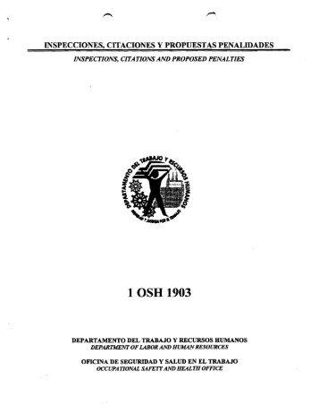 1 OSH 1903 - Departamento del Trabajo y Recursos Humanos