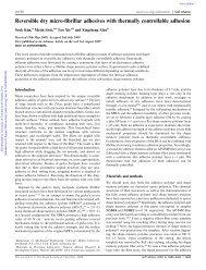 Reversible dry micro-fibrillar adhesives with ... - Seok Kim's Lab