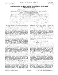 Coherent Control of Interacting Electrons in Quantum Dots via ...