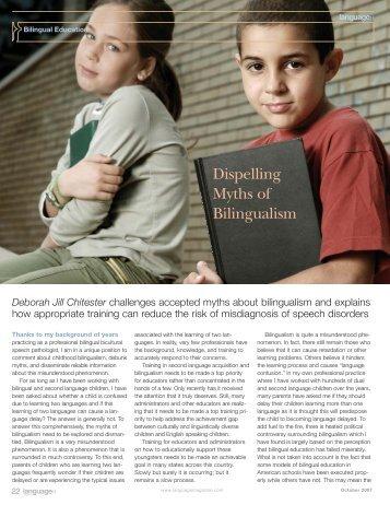 Dispelling Myths of Bilingualism - Language Magazine