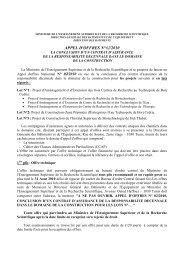 appel d'offres n°02/2010 - Ministère de l'Enseignement Supérieur et ...
