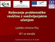 Reševanje problematike revščine – uporaba IKT - Center za ...