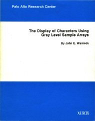 The Display of Characters Using Gray Level Sample Arrays