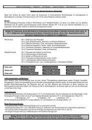 Hinweise zum BA Studium der Philosophie (BA-PO 2007)