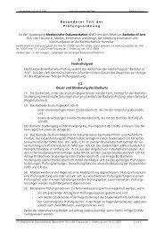 BMD - Besonderer Teil der Prüfungsordnung - Fakultät III