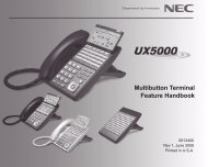 Multibutton Terminal Feature Handbook - NEC UX5000