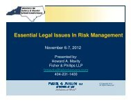 Essential Legal Issues in Risk Management - Western NC Safety ...