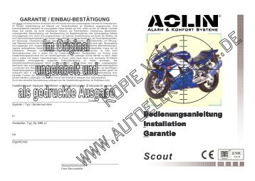 Scout > Bedienungsanleitung aktuellste Version - Aolin