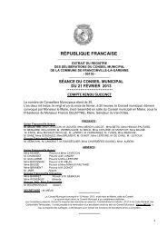 Conseil municipal du 21 février 2013 - Franconville