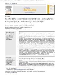 Revisión de las reacciones de hipersensibilidad a antineoplásicos