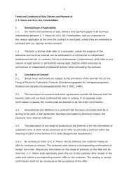 Terms and Conditions of Sale, Delivery and Payment of C. F. Peters ...
