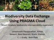 Biodiversity Data Exchange Using PRAGMA Cloud