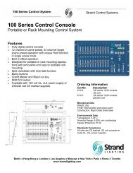100 series console - Grand Stage Company