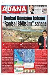 Savc› 'köstebe¤in' peflinde - Adana Haber Gazetesi
