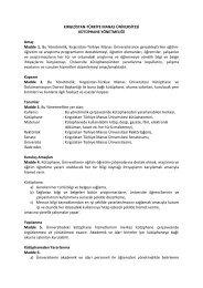 Kütüphane Yönetmeliği - Kırgızistan-Türkiye Manas Üniversitesi