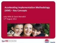 AIM Accelerating Implementation Methodology - Emergency Care ...