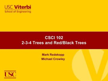2-3-4 Trees and Red/Black Trees
