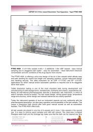 PTWS 4000: 6 of 4 litre vessels in-line + 2 additional 1 ... - Pharma Test