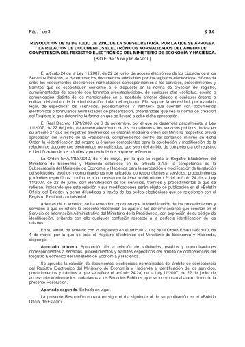 Pág. 1 de 3 § 6.6 RESOLUCIÓN DE 12 DE JULIO DE ... - Catastro
