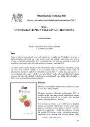 Středoškolská technika 2011 SEO – OPTIMALIZACE PRO ...