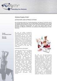 Globale Supply Chain - Nissen & Velten Software GmbH