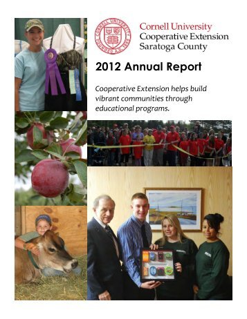 2012 Annual Report - Cornell Cooperative Extension of Saratoga ...