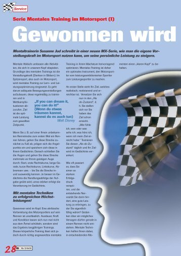 Artikel Mentales Training (Motorsport) - Sport-Business-Coaching