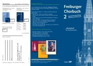 Flyer freiburger Chorbuch:bornefeld flyer