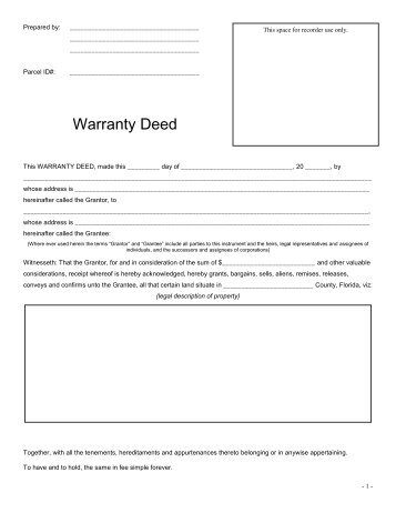 Special Warranty Deed - Tulsa County