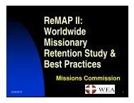 ReMAP II - World Evangelical Alliance