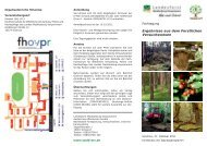 Ergebnisse aus dem Forstlichen Versuchswesen ... - Treffpunkt Wald