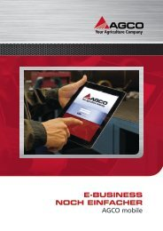 E-businEss noch EinfachEr AGCO mobile - AGCO parts world