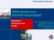Weibliche Hormone und Krebs - Rotkreuzklinikum München