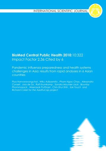 BioMed Central Public Health 2010 - Blog Staff UI