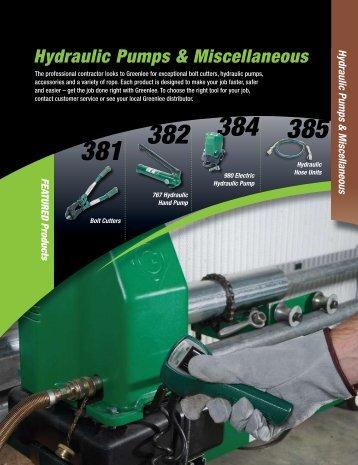 Hydraulic Pumps & Miscellaneous - eBuild