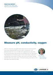 Measure pH, conductivity, oxygen with HQD - HACH LANGE