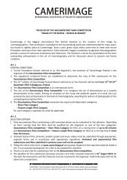 THE RULES OF THE DOCUMENTARY FILMS ... - Camerimage