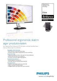 241P3LYES/00 Philips LED-skærm med SmartImage - Lomax