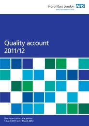 Quality account 2011/12 - North East London NHS Foundation Trust