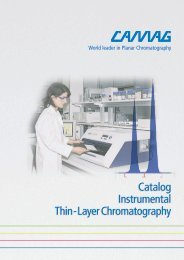 Catalog Instrumental Thin-Layer Chromatography