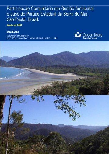 Participação Comunitária em Gestão Ambiental - Queen Mary ...