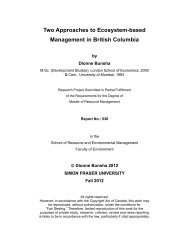 (2012) Two Approaches to Ecosystem-based Management in British ...