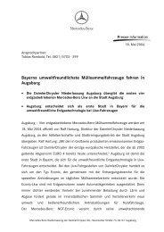Econic-LKW end - Mercedes-Benz Niederlassung Augsburg
