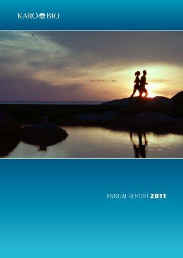 AnnuAl RepoRt 2011 - Karo Bio
