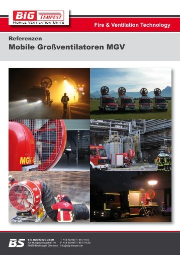 Referenzen Mobile Großventilatoren - Feuerwehr-Magazin