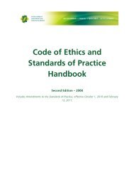 Code of Ethics and Standards of Practice Handbook - Second