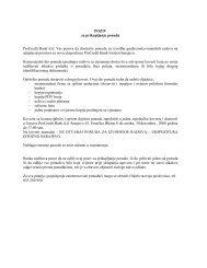 POZIV za prikupljanje ponuda ProCredit Bank d.d. Vas poziva da ...