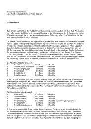 Bericht - Kreis 4 Beckum
