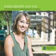 SCHOLARSHIPS And yOu - University of Queensland