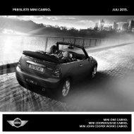 Preisliste MINI cabrio. Juli 2013. - MINI.at